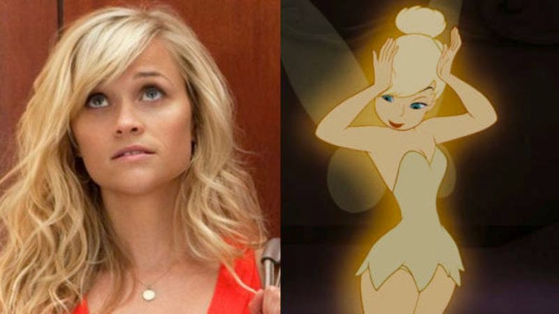 Illustration for article titled Clap your hands if you believe in a Tinker Bell movie that stars Reese Witherspoon