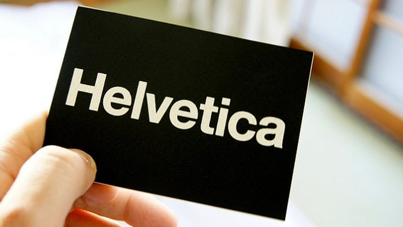 why you may want to consider using helvetica typeface for your resume