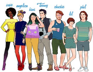 Illustration for article titled Celeste Pille Does Your Favorite Cartoon Characters All Grown Up!