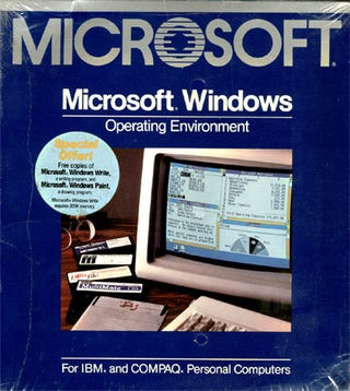 Illustration for article titled 25 Years Ago Today, Bill Gates Announced Windows 1.0