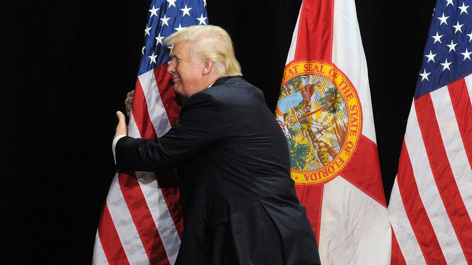 An Exclusive Interview With the American Flag, You Know, the One the President Keeps Stroking