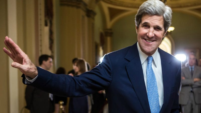 "Illustration for article titled All of John Kerry's State Department Tweets Will End with ""JK"" and Confuse Entire World"