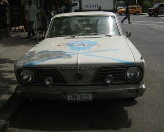 Illustration for article titled 1966 Plymouth Barracuda Down On The New York Street