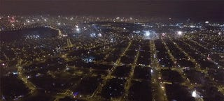 Totally Awesome Drone Footage Shows Fireworks Exploding All Over the City