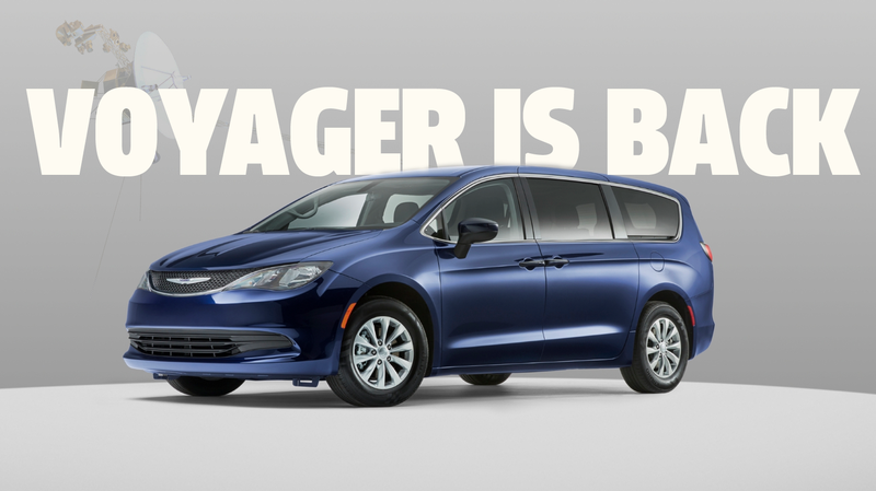 Illustration for article titled Chrysler Brings Back the Voyager Name as a Rebadge of the Entry-Level Pacifica Minivan