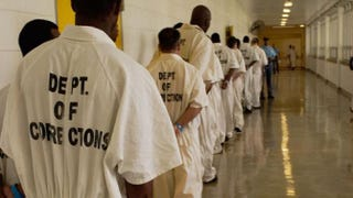 From National Geographic Channel's Locked In, inmates stand in line to enter the Georgia Diagnostic and Classification Prison cafeteria.Derek Bell