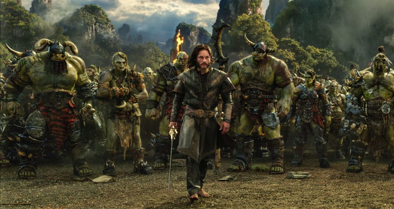 Lothar (Travis Fimmel) takes on the Horde in Duncan Jones' Warcraft. All Images: Universal