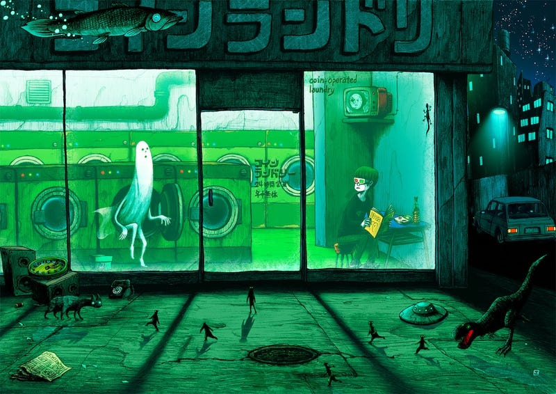 Illustration for article titled Concept Art Writing Prompt: The Laundromat of Horrors