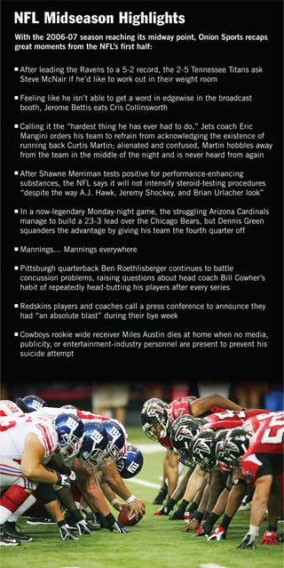 Illustration for article titled NFL Midseason Highlights