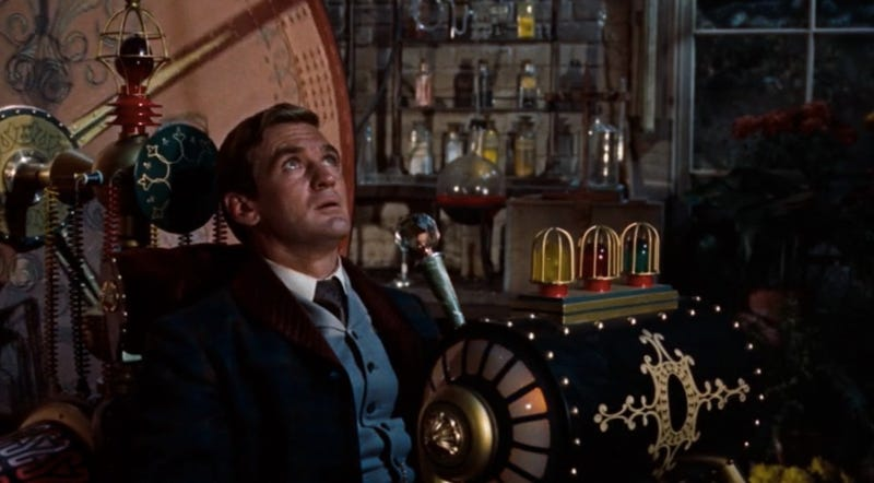 Rod Taylor in the first film of The Time Machine back in 1960.