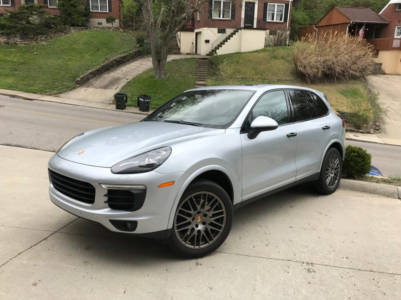 Illustration for article titled I have a '17 Cayenne Platinum Editition for a Few Days