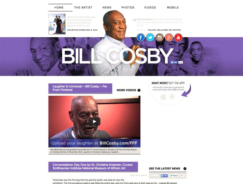 Illustration for article titled Billcosby.com Now Somehow Most Eerie Site On Entire Internet
