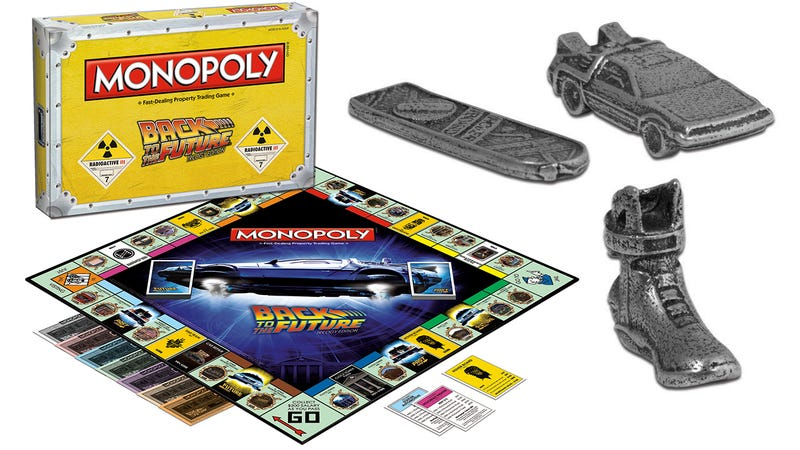 Illustration for article titled You'll Fight Over BTTF Monopoly's Tokens Before the Game Even Starts