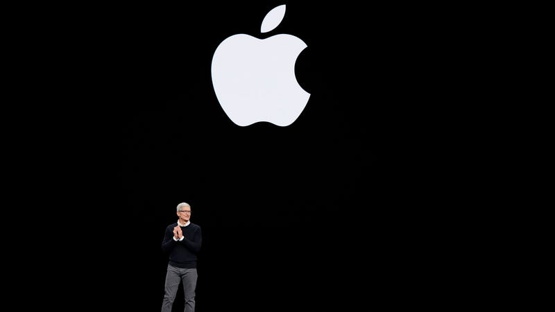 Apple CEO Tim Cook at a March 25 Apple announcement event.