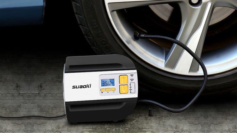 Mini compresor de aire Suaoki | $22 | Amazon | Código promocional HSE6VX3P