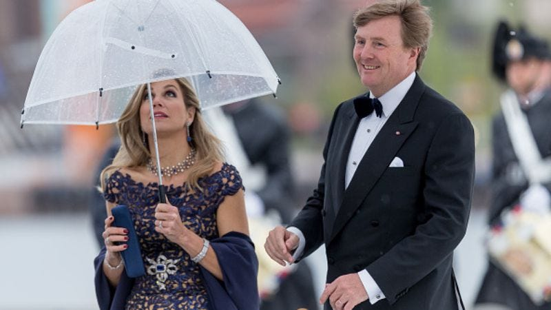 Meanwhile, the Dutch queen is obviously Mary Poppins (Photo: Nigel Waldron/Getty Images)