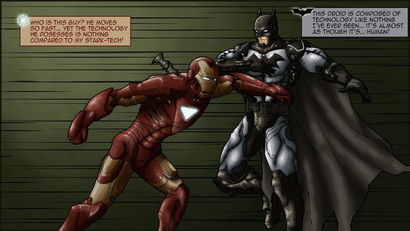 "Illustration for article titled Who's the best ""innovation superhero"": Iron Man, or Batman?"