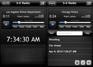 Illustration for article titled 5-0 App Turns Your iPhone into a Police Radio Scanner