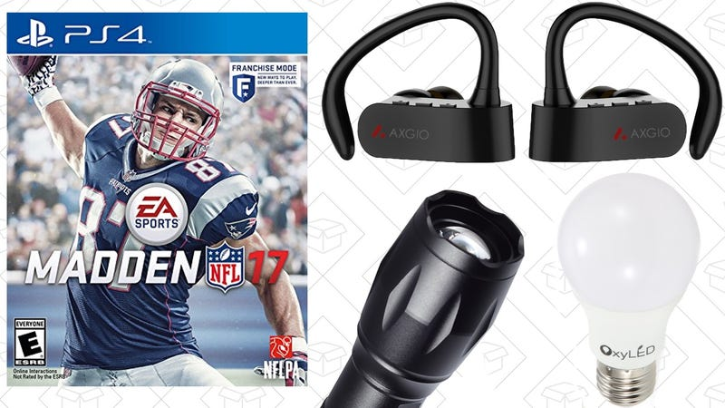Illustration for article titled Today's Best Deals: Madden 17, True Wireless Headphones, TurboTax, and More