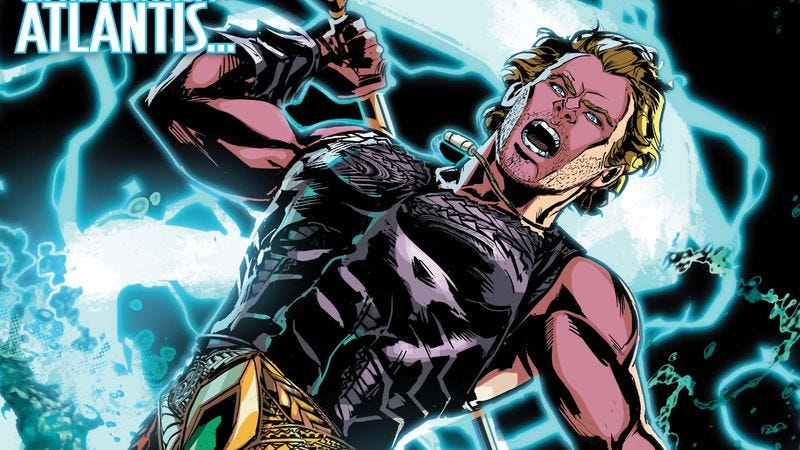 Illustration for article titled Exclusive DC preview: The King of Atlantis is on the run in Aquaman #41