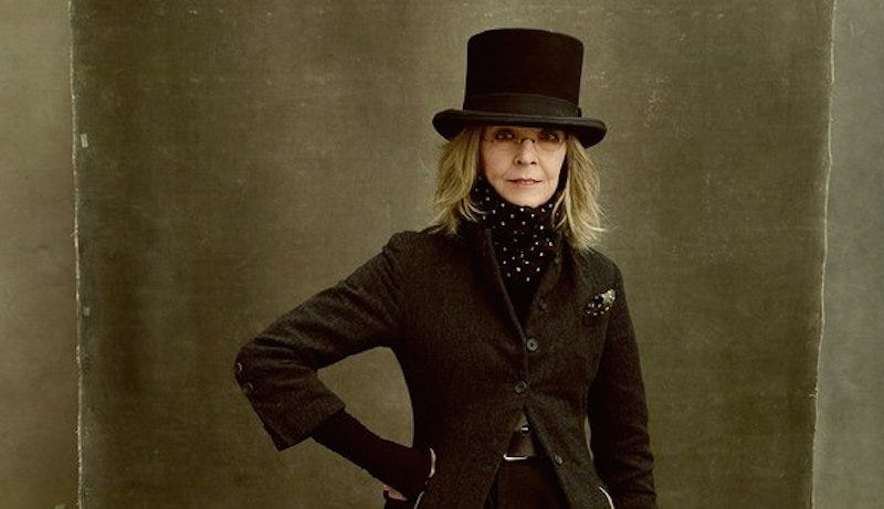 Illustration for article titled Diane Keaton Was Channeling Abraham Lincoln In Her Vanity Fair Shoot