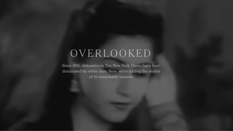 Illustration for article titled New York Times Launches 'Overlooked' to Honor Women With the Obits They Never Got
