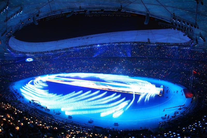 Illustration for article titled A Glimpse At the Tech Behind the Beijing Olympics Opening Ceremonies