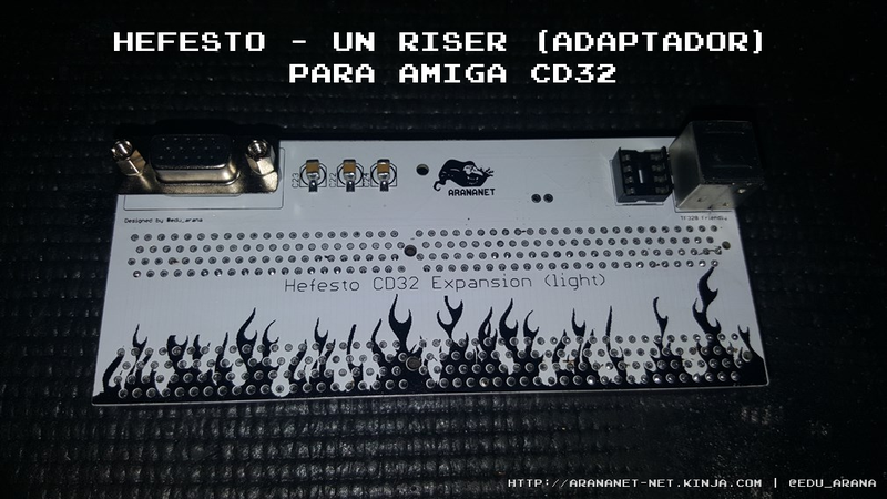 Illustration for article titled Hefesto - Un riser (adaptador) para Amiga CD32