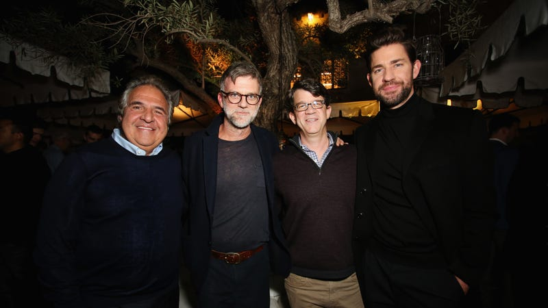 Paramount Pictures Chairman and CEO Jim Gianopulos, Paul Thomas Anderson, Paramount Pictures Motion Picture Group President Wyck Godfrey, and John Krasinski