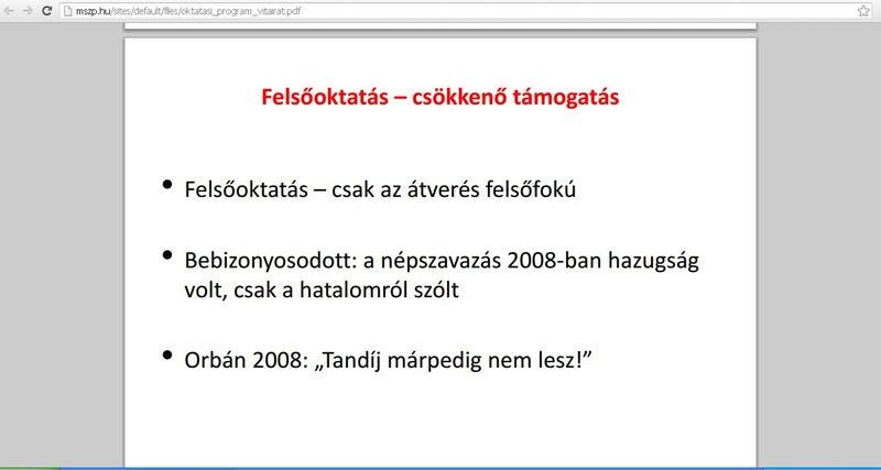 Illustration for article titled Az MSZP ajánlata Magyarországnak