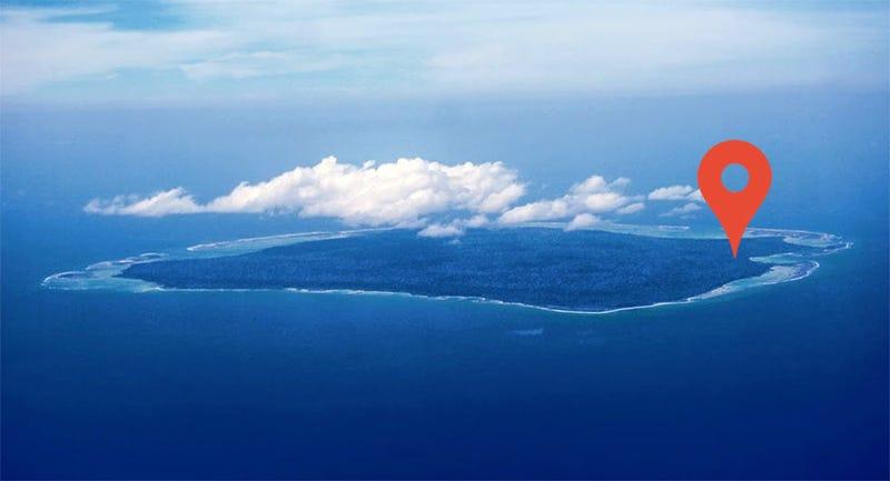 La isla, vista desde el aire