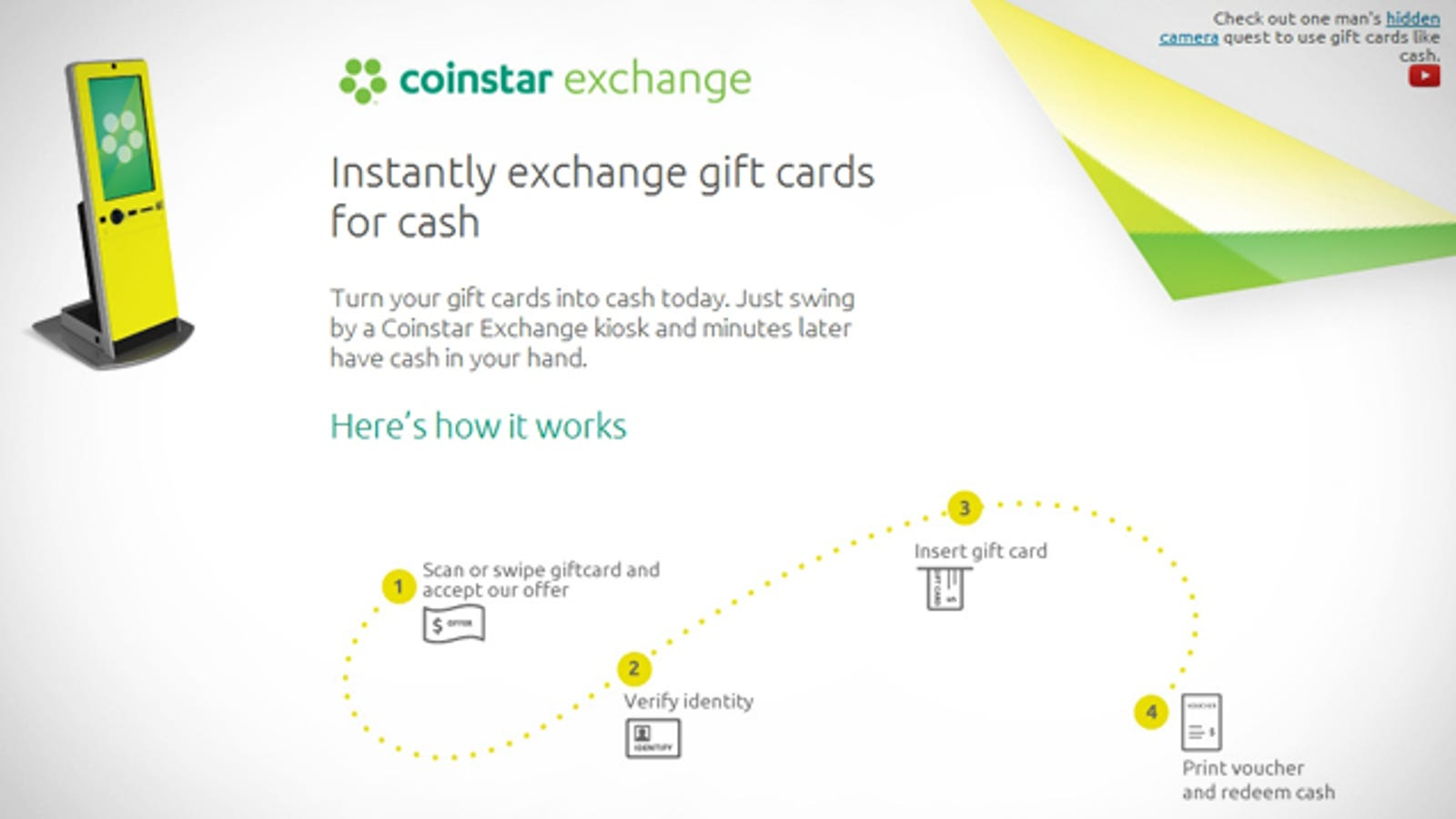 Coinstar Exchange Kiosks Take Your Unused Gift Cards for