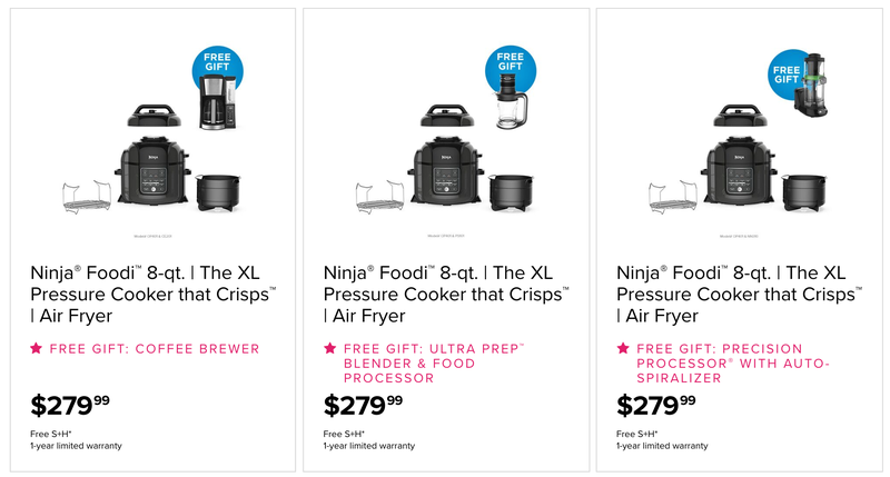 8 Qt. Ninja Foodi + Free Gift | $280 | Ninja