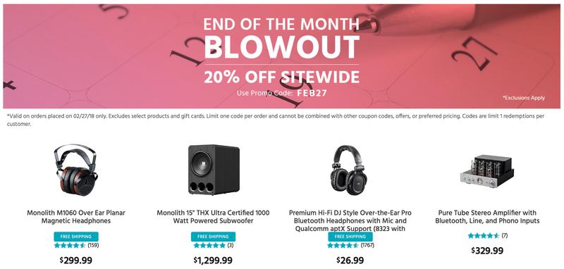 20% Off Sitewide | Monoprice | Promo code FEB27