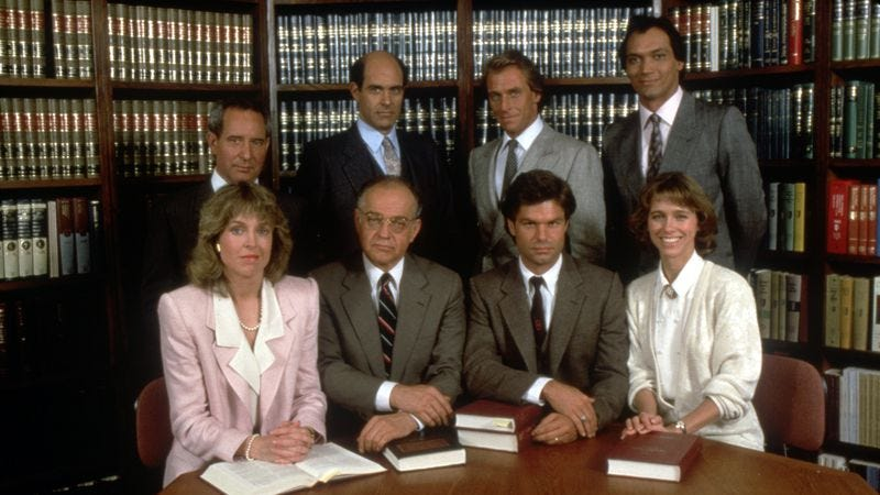 Illustration for article titled L.A. Law works better as time capsule than TV show