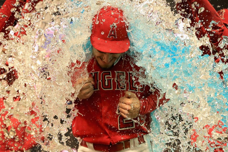 Illustration for article titled Andrew Heaney Got Doused In A Glorious Ice Bucket Dump