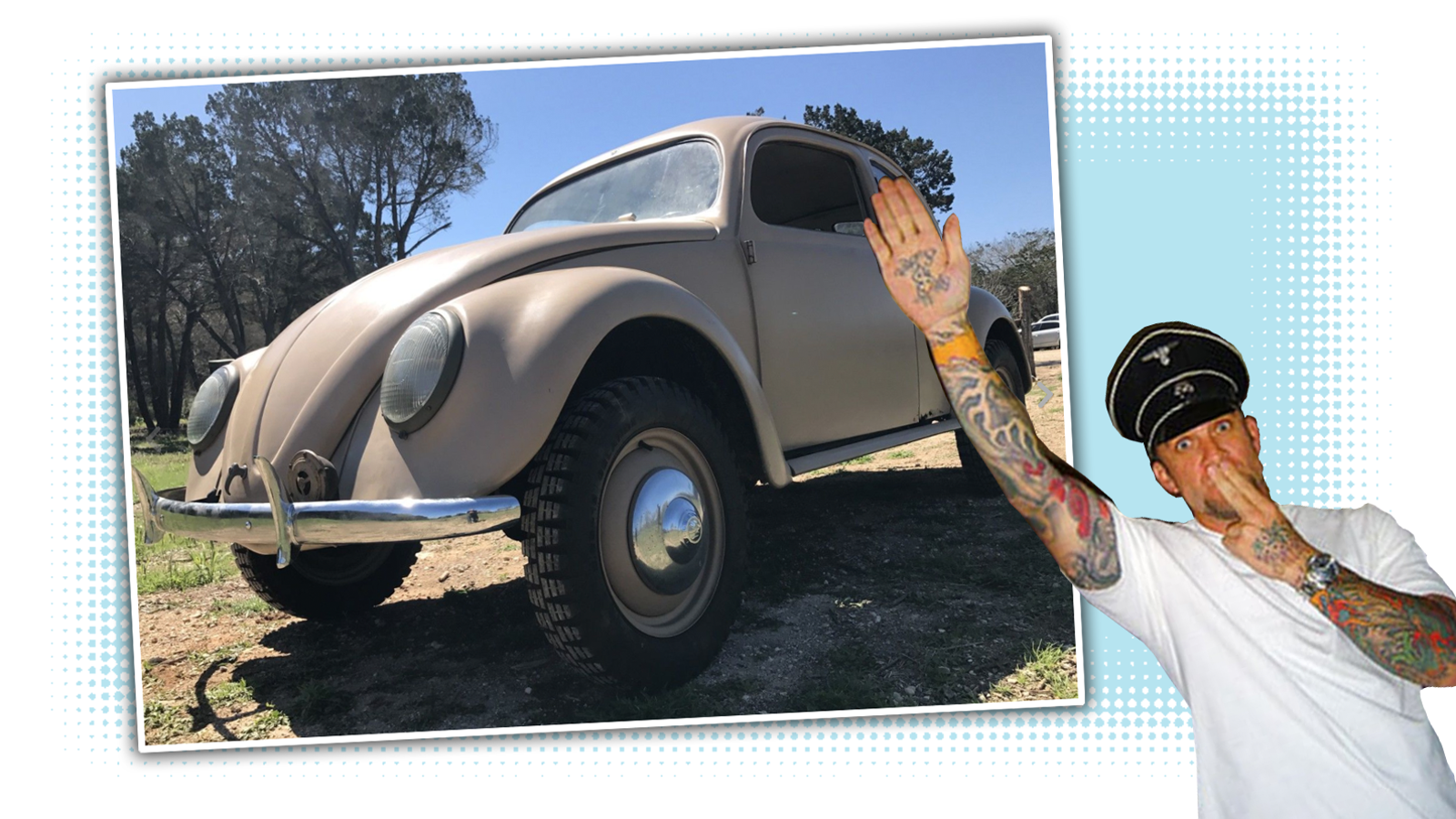 Occasional Nazi Cosplayer Jesse James Is Selling A Beetle That's As Nazi As Beetles Get
