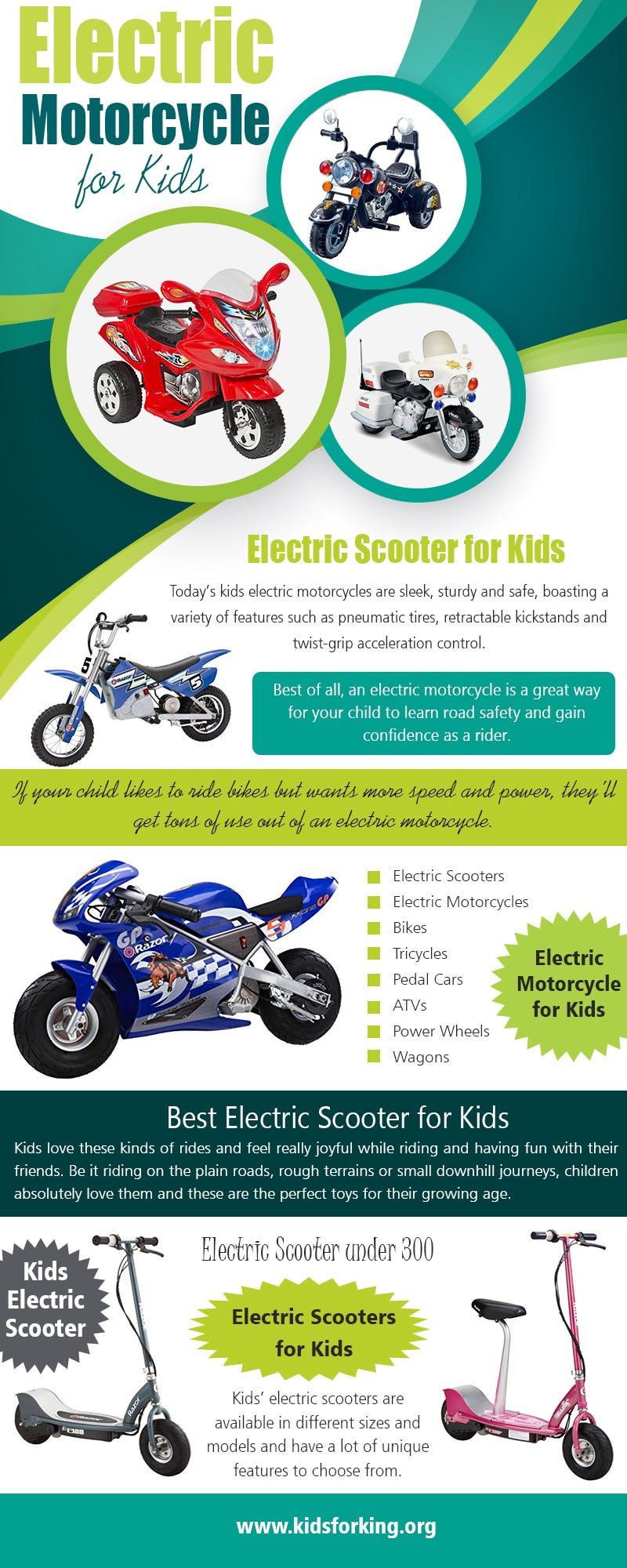 Illustration for article titled Electric Motorcycle for Kids | kidsforking.org