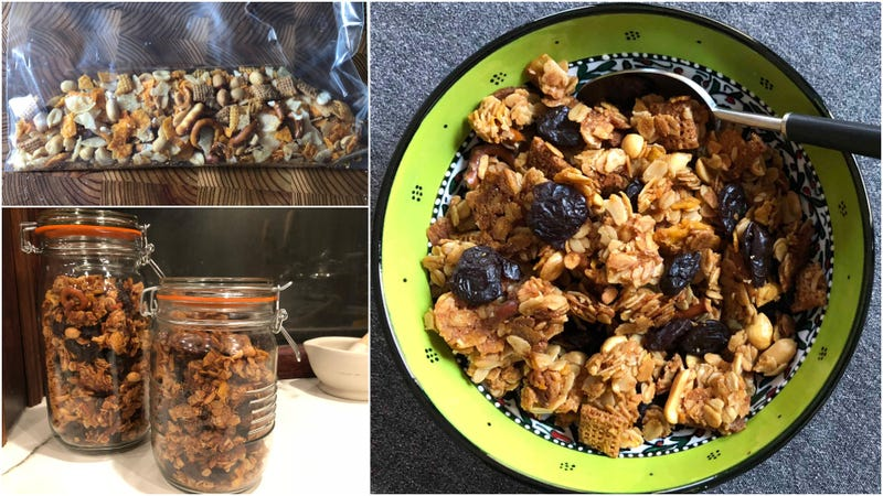 Illustration for article titled Turn leftover party snack mix into granola