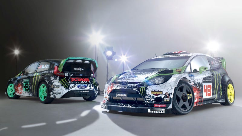 Illustration for article titled Your Ridiculously Cool 2012 Ken Block Ford Fiestas Wallpaper Are Here