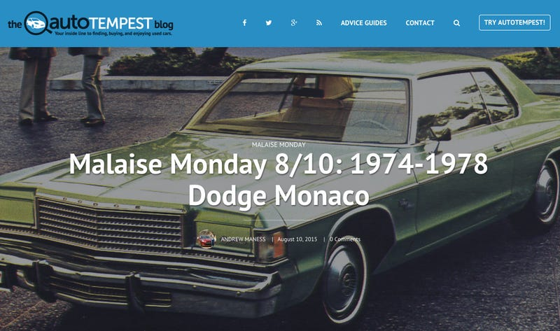 Illustration for article titled Malaise Monday: '74-'78 Dodge Monaco