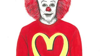 Illustration for article titled This Halloween, Pennywise Wears Moschino