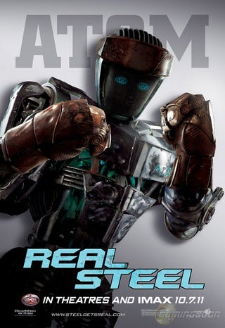 Illustration for article titled Real Steel Character Posters
