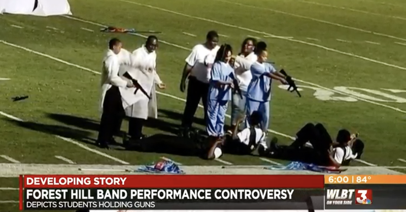 Forest Hill High School students perform in controversial halftime show on Oct. 6, 2018, in Brookhaven, Miss.