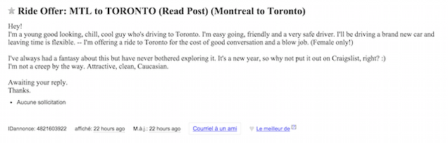 a find on craigslist to How blowjob
