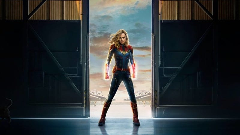 Illustration for article titled The real star of Captain Marvel is hiding on the official poster