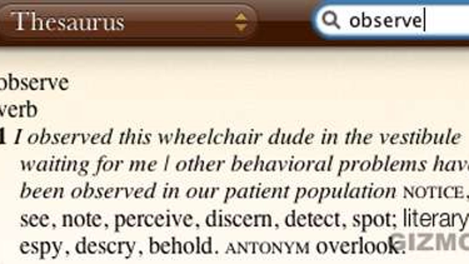Wheelchair Dude Features in Apple Thesaurus; His Cover is Blown