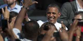 President Obama at a Virginia Rally (Douglas Graham/Roll Call/Getty Images)