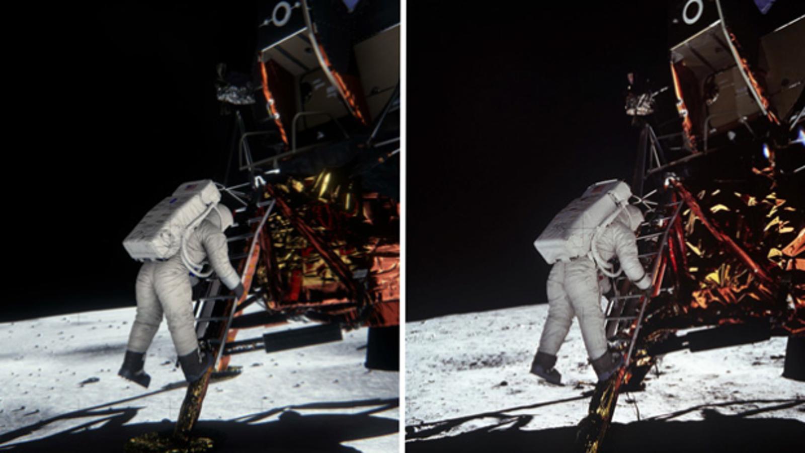 Una nueva simulación desmonta dos bulos sobre la llegada a la Luna