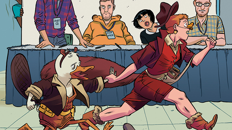 Illustration for article titled The Howard the Duck/Squirrel Girl Crossover Is Already the Best Comic Book Team-Up of 2016